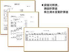 貸借対照表/損益計算書/株主資本変動計算書